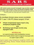 Amaran Kesihatan Mengenai SARS (BM)