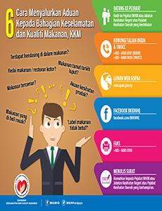 bkkm cara menyalurkan aduan kepada bkkm kkm infografik