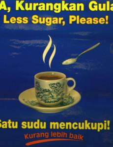 Gula:Ya, Kurangkan Gula!
