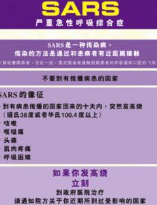 SARS (B. Cina)