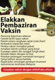 Vaksin:Elakkan Pembaziran Vaksin