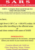 Amaran Kesihatan Mengenai SARS (BI)