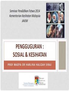 Seminar Jelajah Pendidikan Fatwa - Penguguran: Sosial & Kesihatan