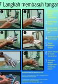 Kebersihan Makanan : 7 langkah membasuh tangan