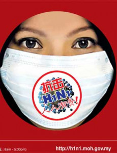 H1N1 Gelombang Kedua - Pakai Topeng Mulut Dan Hidung (B.Cina)