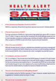 SARS : Amaran kesihatan (B. Inggeris)
