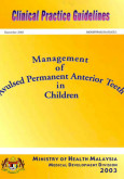 Management Of Avulsed Permanent Anterior Teeth In Children