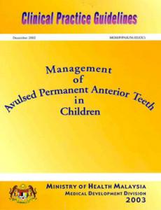 Management Of Avulsed Permanent Anterior Teeth In Children