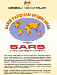 SARS : garispanduan Perjalanan (B. Malaysia)