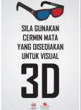 Demi Cinta:Pameran Demi Cinta Poster 3D Glasses