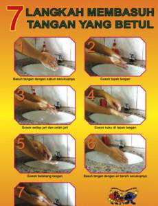 Kebersihan Makanan 7 Langkah Membasuh Tangan Yang Betul