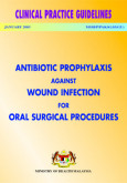 Antibiotic prophylaxis against wound infection for oral surgery procedure