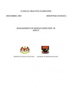 Dengue:Management of Dengue Infectionin Adult
