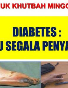 Khutbah Jumaat : Diabetes : Ibu Segala Penyakit