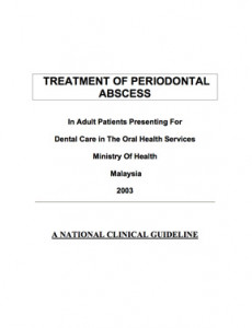 Treatment of Periodontal Abscess