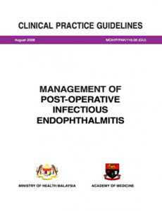 Management of Post-Operative Infectious Endophthalmitis