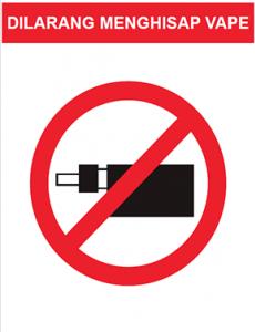 Vape:Dilarang Menghisap Vape (B.Malaysia)