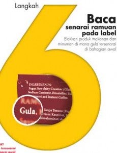 Gula:7 Langkah Bijak Kurangkan Pengambilan Gula - 6 (BM)