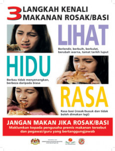 BKKM:3 Langkah Kenali Makanan Rosak/Basi