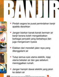 Banjir: Jagalah keselamatan anda semasa banjir