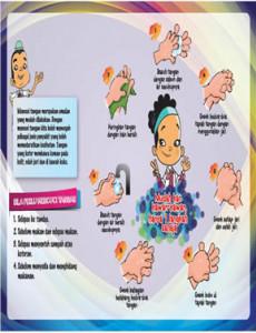 7 langkah mencuci tangan (Belakang)
