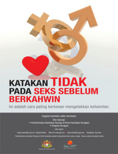 Seks:Katakan Tidak Pada Seks Sebelum Berkahwin