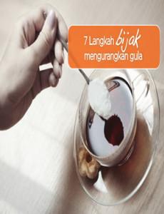 7 Langkah Bijak Mengurangkan Gula - Flipchart
