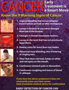 Kanser : Awal dijejak, langkah yang bijak (BI)
