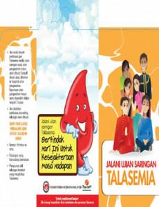 Talasemia - Jalani Ujian Saringan Talasemia