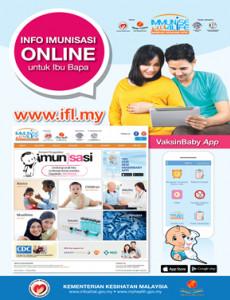 Info Imunisasi Online Untuk Ibu Bapa - Poster