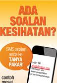 MyHEALTH : MySMS Tanya Pakar