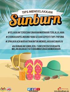 Tips Elak Sunburn