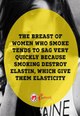 Women Breast When Smoke