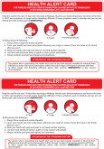 Health Alert Card Novel Coronavirus (COVID-19)