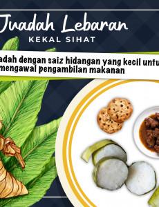 Juadah Lebaran Kekal Sihat :Saiz Hidangan Yang Kecil