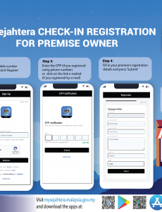 MySejahtera Check-in Registration For Premise Owner