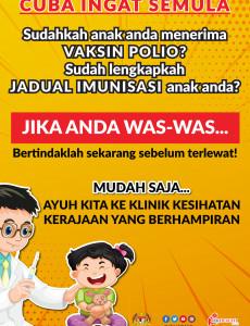 Sudahkah Anak Anda Menerima Vaksin Polio?