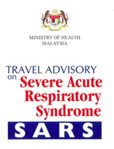 SARS: Travel Advisory