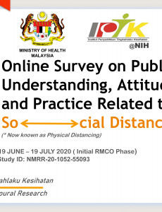 Online Survey on Public's Understanding, Attitude and Practice Related to Social Distancing