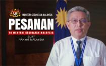 Pesanan YB Menteri Kesihatan