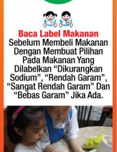 Makanan:Baca Label Makanan Sebelum Membeli Makanan Dengan Membuat Pilihan Pada Makanan Yang Dilabelkan