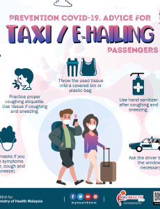 Prevention COVID-19. Advice For Taxi/E-Hailing (Passengers)
