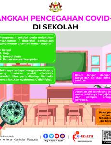 Langkah Pencegahan COVID-19 di Sekolah